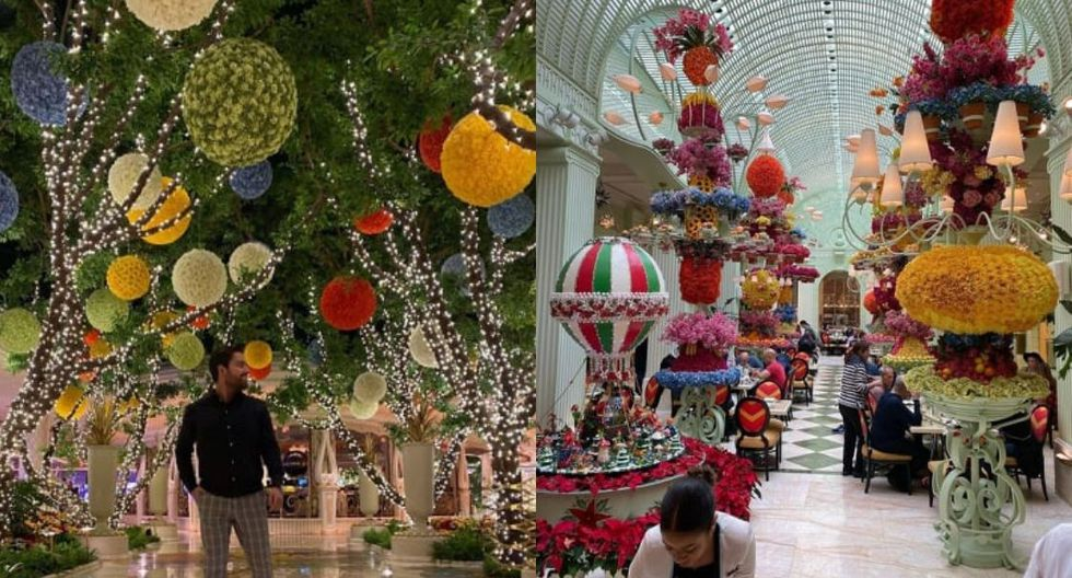 Wynn Las Vegas. Su atrio principal se ha transformado en un paraíso invernal su decoración ha sido inspirada en el libro 'Los viajes de Gulliver'. Los asistentes también pueden disfrutar de los talleres de decoración comestible y más actividades divertidas. (Fotos: Instagram)