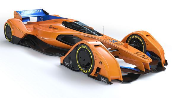 El chasis del McLaren X2 podría ser construido por un material que, en caso de colisión, volvería a su estado natural. (Fotos: McLaren).