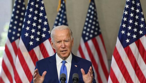 El candidato presidencial demócrata y exvicepresidente Joe Biden habla en el Centro Nacional de la Constitución en Filadelfia, Pensilvania, el 20 de septiembre de 2020. (Foto de ROBERTO SCHMIDT / AFP).