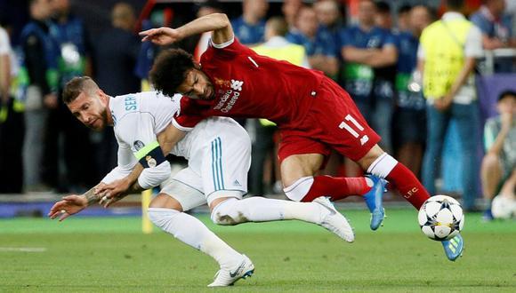 Sergio Ramos y Mohamed Salah se volverán a ver las caras luego de la final del 2018 en Kiev | Foto: REUTERS
