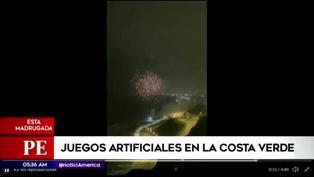 Fuegos artificiales iluminaron el cielo de la Costa Verde por el Bicentenario