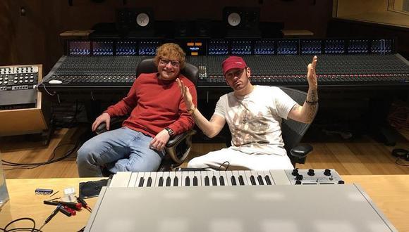 Ed Sheeran y Eminem en su nuevo videoclip juntos, 'River'. (Captura/YouTube)