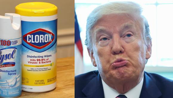 El jueves, Donald Trump sugirió usar desinfectante para tratar el coronavirus, al día siguiente dijo que habló sarcásticamente. (Foto: EFE / Reuters).