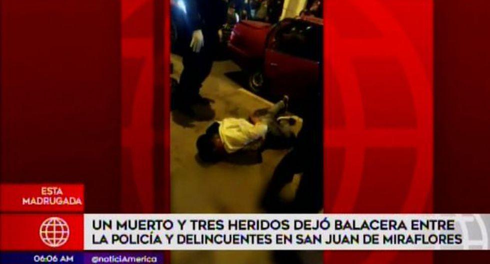 Los otros tres presuntos delincuentes fueron llevados al hospital. (Foto: Captura/América Noticias)