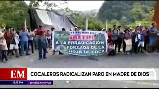 Madre de Dios: Cocaleros radicales amenazaron con quemar un camión lleno de medicamentos