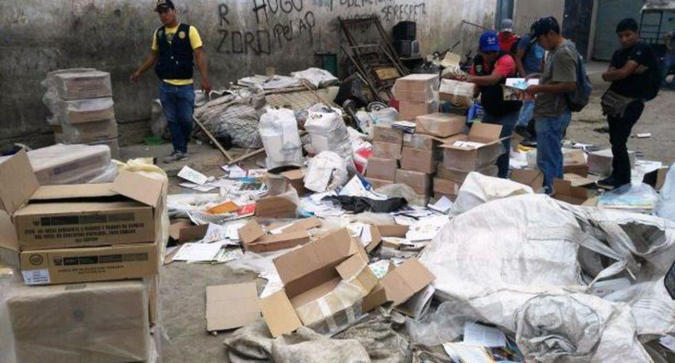 Lambayeque: hallan 6.000 textos escolares en taller reciclador