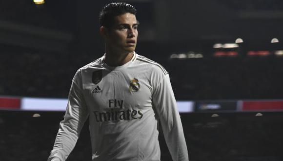 James Rodríguez tiene contrato con Real Madrid hasta mediados del 2021. (Foto: AFP)