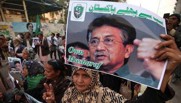 Una manifestación en favor de Pervez Musharraf. (EFE/EPA/SHAHZAIB AKBER).
