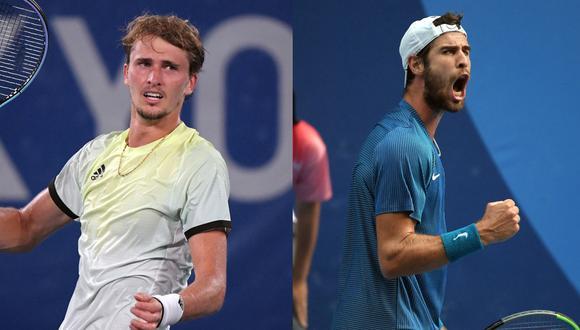 Conoce todos los datos de la final de tenis masculino en los Juegos Olímpicos de Tokio 2020. (Fotos: AFP)