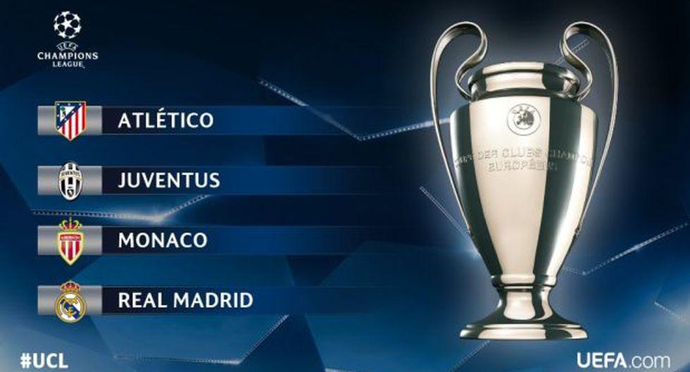 Sorteo Champions League: así se jugarán las semifinales