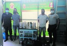 Tumbes: intervinieron a extranjeros que transportaban droga camuflada en velas