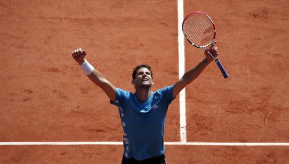 Thiem eliminó a Djokovic en cinco sets y enfrentará a Rafael Nadal en la final de Roland Garros 2019. | Foto: EFE