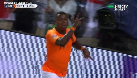 Holanda vs. Inglaterra: Walker anotó autogol para el 2-1 tras grosero error de Maguire. (Foto: captura)