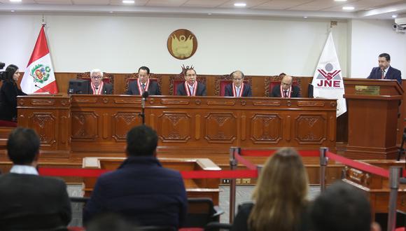 Pleno del Jurado Nacional de Elecciones tomó la decisión por mayoría (4-1), según pudo conocer El Comercio. (Foto: JNE)