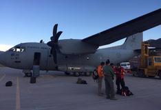 Helicóptero y avión de las FF.AA. arriban a Cusco para apoyar en extinción de incendio forestal