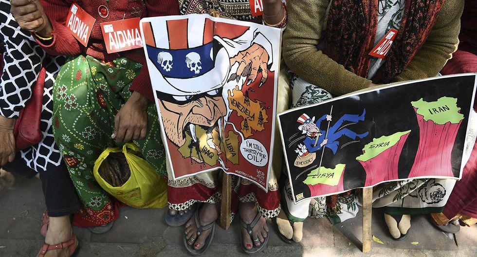 También se registraron protestas por la llegada del mandatario estadounidense, Donald Trump. (Foto: AFP)