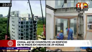 China: Mira la impresionante construcción de un edificio de 10 pisos en menos de 29 horas