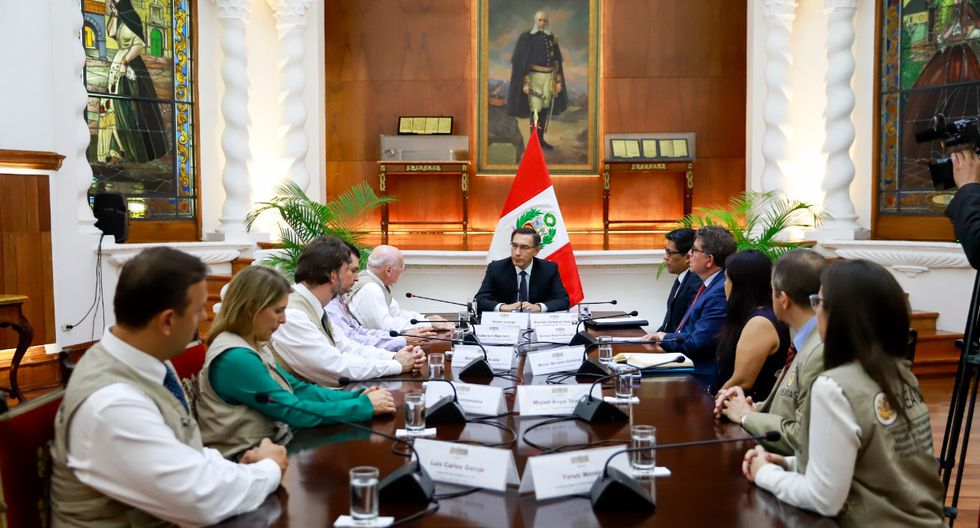 El jefe de Estado se reunió con la misión de la OEA un día después de las elecciones. (Foto: Presidencia Perú)