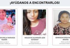 #AyúdanosAEncontrarlos: las familias de Mariana, Emili, Vivian, Leidi y Rosa las están buscando