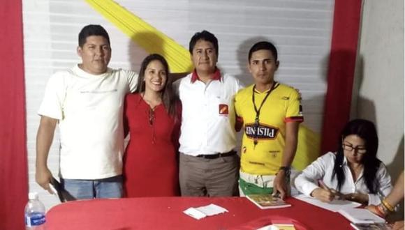 Natalia Jiménez, la nueva directora ejecutiva de Provías Descentralizado, junto a Vladimir Cerrón.
