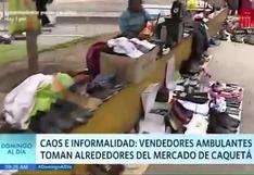 Ambulantes toman alrededores del Mercado Caquetá