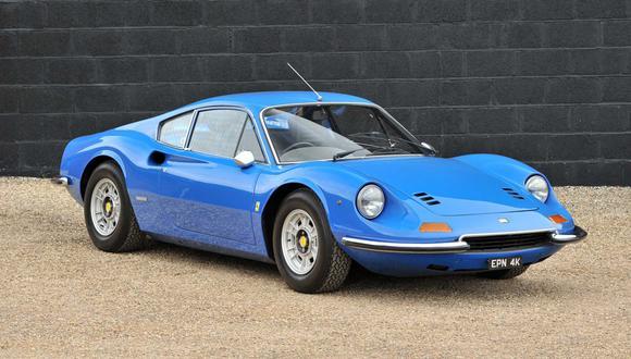 A pesar de sus más de 45 años de historia, el Ferrari Dino 246GT solo ha recorrido 51.786 km. (Fotos: Silverstone Auctions).