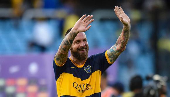 Daniele de Rossi se retiró del fútbol a inicio de año con la camiseta de Boca Juniors. (Foto: AFP)