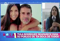 Tula Rodríguez reaparece en TV tras muerte de Javier Carmona