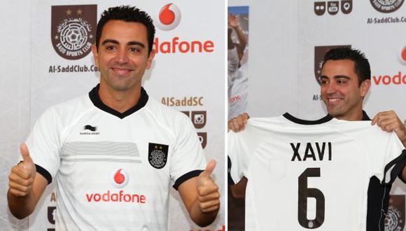Xavi Hernández fue presentado en el Al Sadd de Qatar