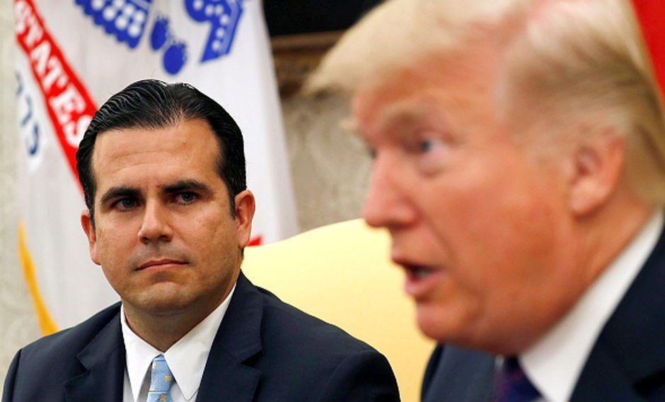 Ricardo Rosselló, gobernador de Puerto Rico y Donald Trump, presidente de Estados Unidos, durante una reunión en la Casa Blanca. (Foto: Reuters)