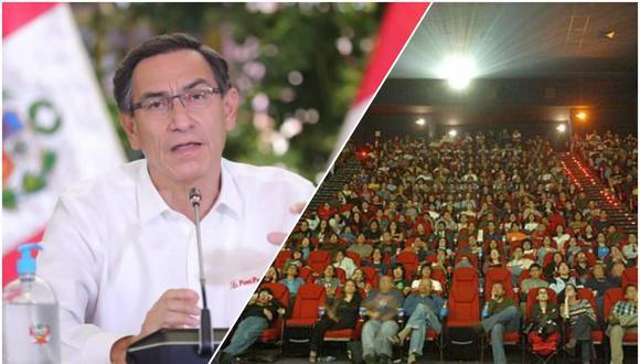 Presidente Martín Vizcarra dio conferencia de prensa este viernes e indicó que los cines y bares no estarán incluidos en la Fase 4. (Foto: Presidencia y GEC / Composición: El Comercio)