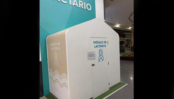 Usuaria criticó instalación del módulo de lactancia en centro comercial Open Plaza. (Foto: Facebook/Angeles Schlegel)