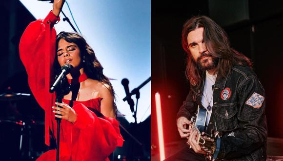 Camila Cabello y Juanes se presentarán en los Billboard Latinos. (Foto: @camila_cabello/@juanes).
