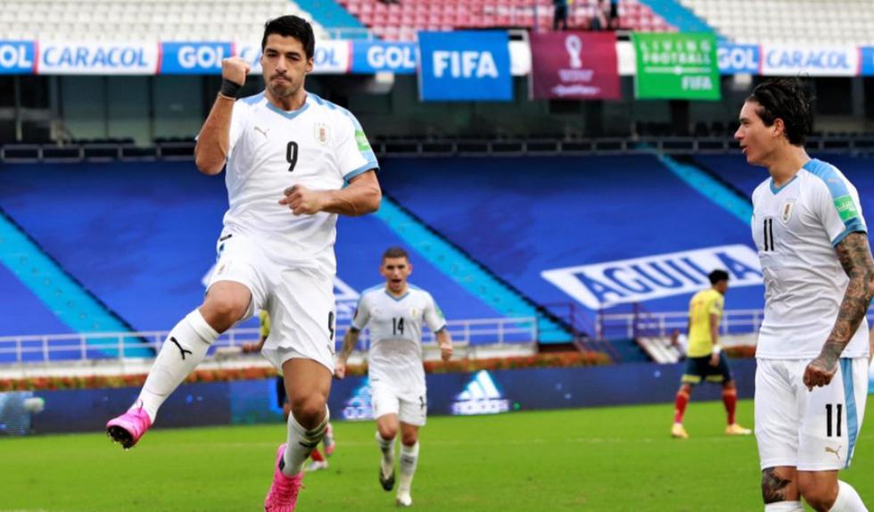 Uruguay consigue una gran victoria en Barranquilla ante Colombia por las Eliminatorias Qatar 2022 | Foto: @Uruguay