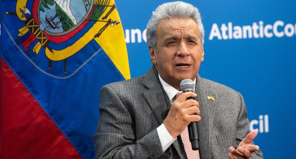 El presidente de Ecuador, Lenín Moreno, habla durante un evento en el Atlantic Council en Washington, (Estados Unidos), el 13 de febrero de 2020. (SAUL LOEB / AFP).
