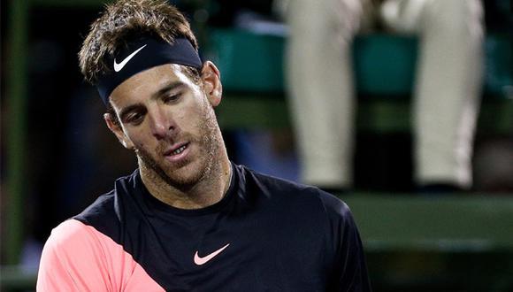 Juan Martín del Potro perdió el primer set de la semifinal del Masters 1000 de Miami por 6-1 ante John Isner