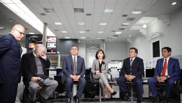 Parlamentarios de cinco bancadas participaron de una mesa redonda organizada por este Diario. (Foto: José Rojas / El Comercio)