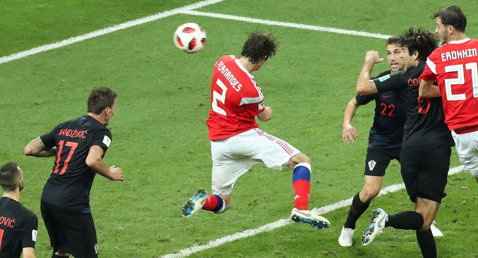 Croacia vs. Rusia: el gol de Fernandes que llevó el partido a penales. (Foto: AFP)