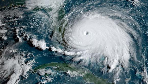 El huracán Dorian es el más poderoso que ha azotado a las Bahamas desde que se tiene registro. Foto: NOAA, vía BBC Mundo