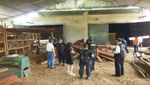 Incautan piezas de madera en operación contra tala ilegal