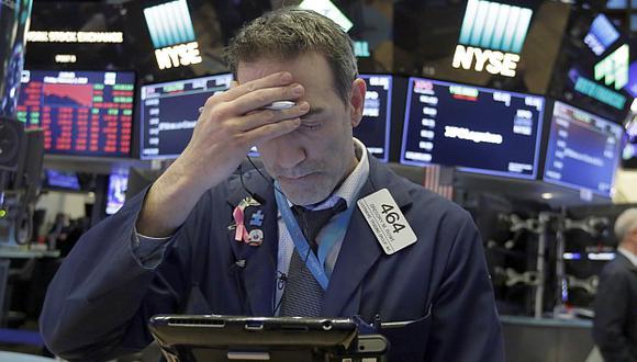 Wall Street reportó una caída de 4,12% en la última semana. (Foto: AP)