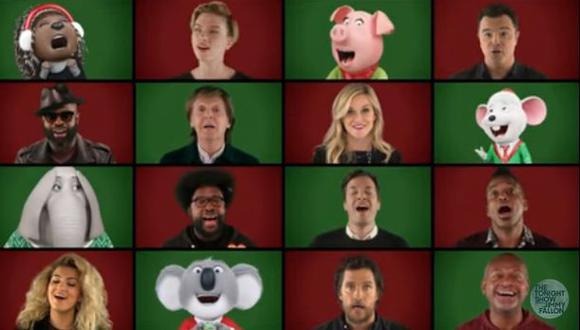 Jimmy Fallon, Paul McCartney y otros cantan villancico [VIDEO]