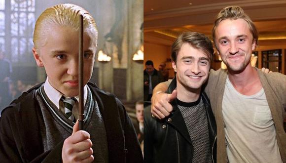 Tom Felton, Draco Malfoy en Harry Potter, se desmayó mientras jugaba golf. (Foto: Composición/@t22felton)