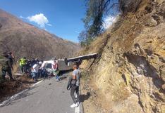 Apurímac: minibús de Las Bambas tomó ruta alterna por bloqueo de vía, volcó y dejó 17 muertos