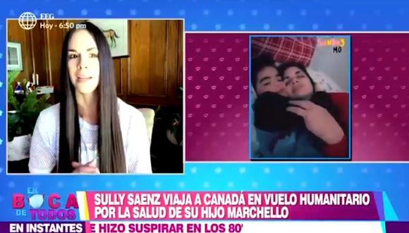 Sully Sáenz desde Canadá habló sobre salud de su hijo (Foto: captura)