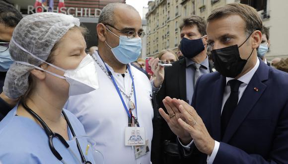 Coronavirus en Francia | Últimas noticias | Último minuto: reporte de infectados y muertos hoy, miércoles 21 de octubre del 2020 |El presidente francés, Emmanuel Macron, visita el hospital Rothschild. (Foto: EFE).