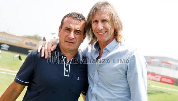 Ricardo Gareca se reunió con Guillermo Sanguinetti