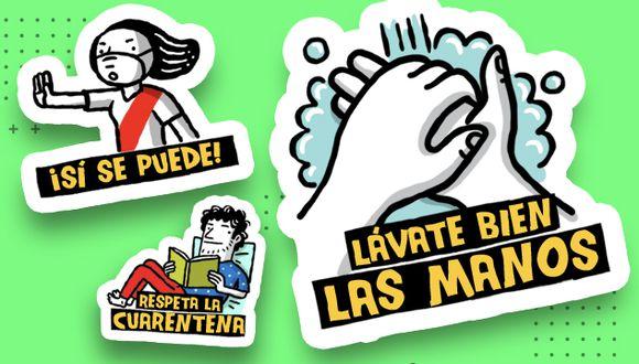Descarga los stickers de El Comercio. (Diseño: El Comercio)