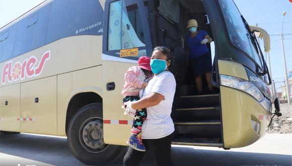 El Gobierno central prioriza el traslado a sus regiones de los adultos mayores y niños.  (Foto: Gobierno Regional de Tacna)