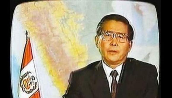 Imagen del mensaje a la nación pronunciado el 5 de abril de 1992 por Alberto Fujimori, donde anunciaba el cierre del Congreso. (Foto: Archivo El Comercio)